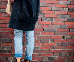 boots, boyfriend jeans, and coat image