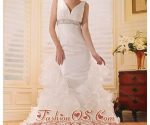 bridal gown, spring wedding dress, and summer wedding dress image