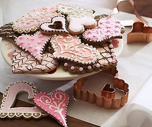 Cookies, sweet, and hearts image