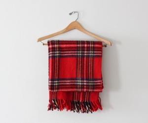 plaid, fashion, and red image