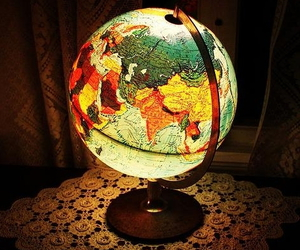 light, globe, and lamp image