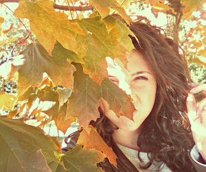 autumn, girl, and color image