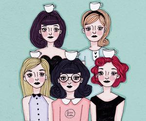 art, illustration, and teacups image