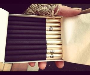 cigarette, black, and gold image