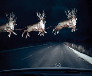 christmas, reindeer, and santa image