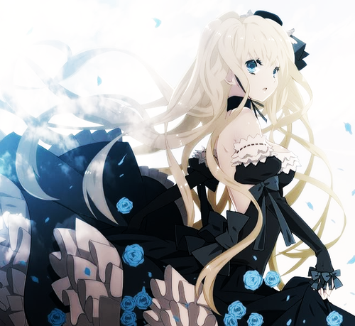 What, anime girl in ball gown think, that