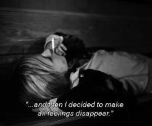feelings, disappear, and quote image