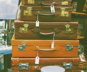 vintage, photography, and suitcase image