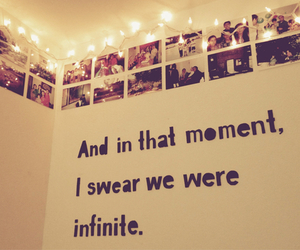 decorations, quote, and the perks of being a wallflower image