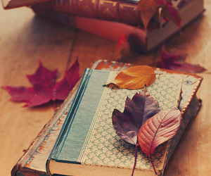 autumn, old books, and vintage image