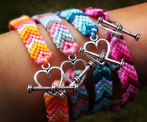 bracelets, diy, and heart image