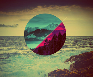 sea, nature, and hipster image