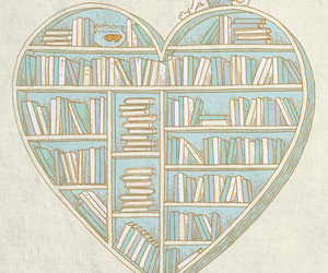 books and heart image