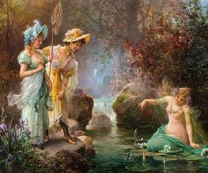 hans zatzka, beautiful, and mermaid image