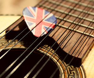 guitar, music, and london image