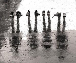 shoes, rain, and shadow image