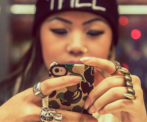 girl, swag, and trill image