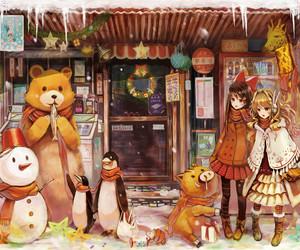 anime, christmas, and illustration image