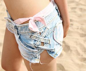 bikini, legs, and pink image