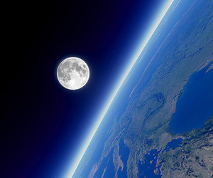 moon, earth, and photography image