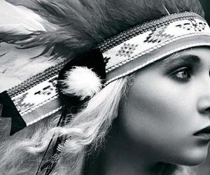 juno temple, indian, and black and white image
