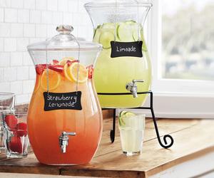 drink, lemonade, and strawberry image
