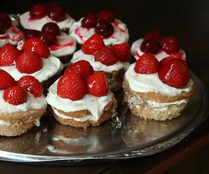strawberry, food, and cupcake image