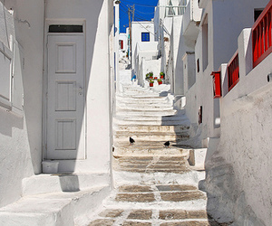 Greece and white image