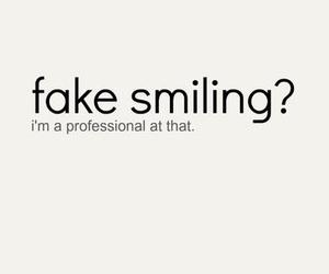 fake, smile, and smiling image