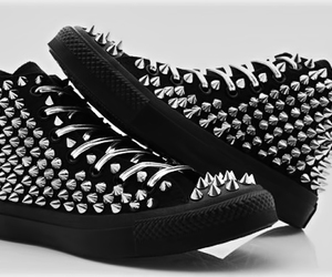spikes, black, and shoes image