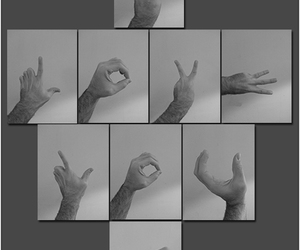 fingers, sign, and hands image