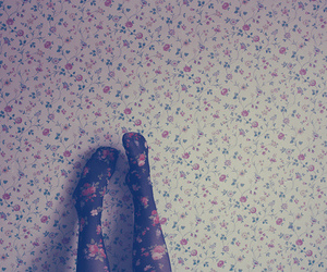 flowers, vintage, and legs image