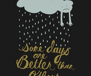 rain, clouds, and text image