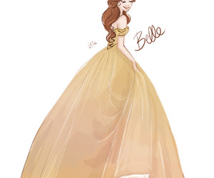 belle, princess, and beauty and the beast image