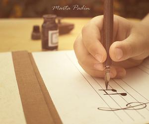 criativo, pena, and notas musicais image