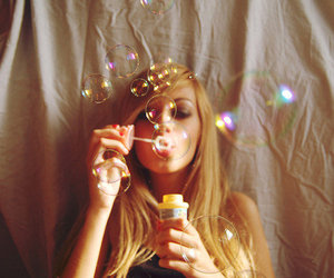blonde, bubbles, and girl image