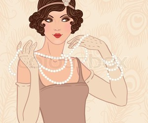 cream, flapper girl, and vintage image