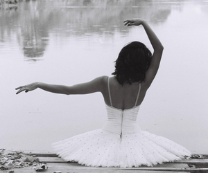 back, ballet, and black and white image