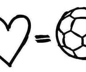 love, football, and heart image
