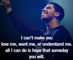 Drake, love, and quote image