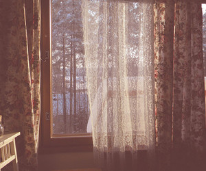 window and curtains image