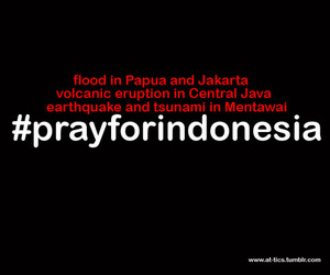 disaster, text, and indonesia image