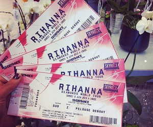 rihanna, ticket, and concert image