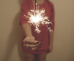 girl, photography, and fireworks image