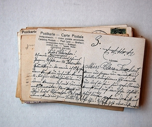 postcard, vintage, and letters image