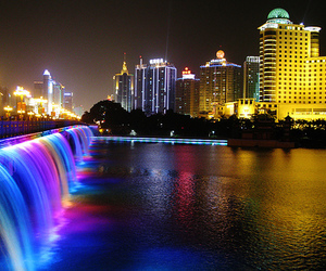 city, citylights, and colors image