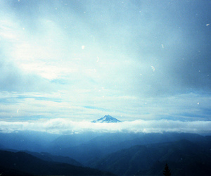 blue, mountain, and sky image