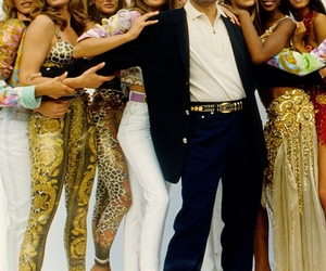 90s, cindy crawford, and fashion show image