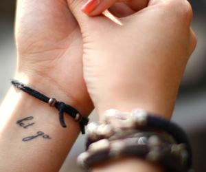 black, let go, and wrist image