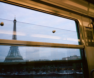 paris, train, and vintage image